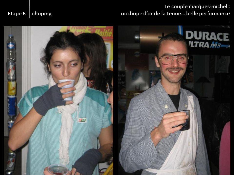 Etape 6 choping Le couple marques-michel : oochope dor de la tenue… belle performance !