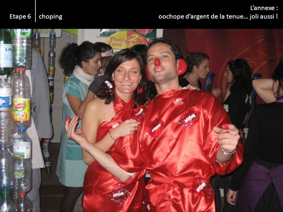 Lannexe : oochope dargent de la tenue… joli aussi ! Etape 6 choping