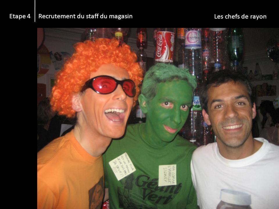 Etape 4 Recrutement du staff du magasin Les caissières :-)
