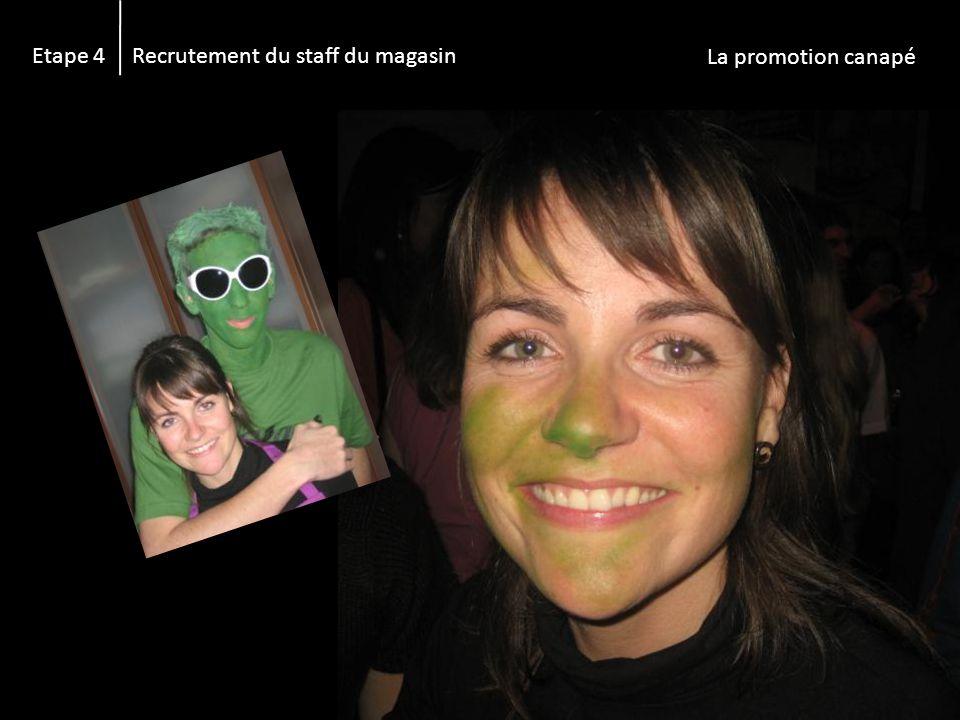 Etape 4 Recrutement du staff du magasin La promotion canapé