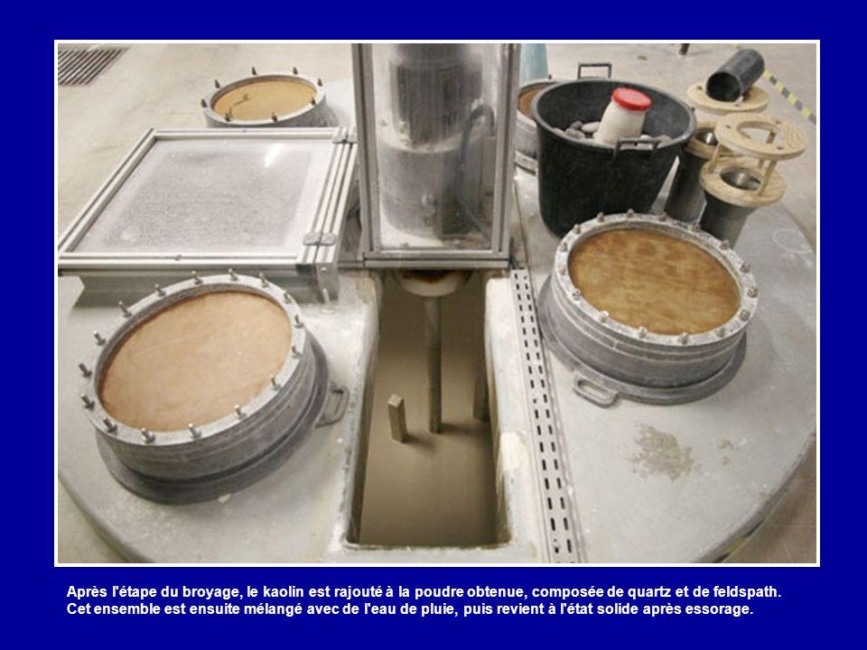 Les matières premières de ces pâtes fabriquées sur place sont principalement le kaolin (anglais, espagnol, français, néozélandais ou allemand), le fel