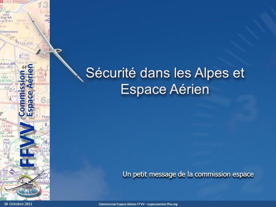Commission Espace Aérien FFVV – espaceaerien.ffvv.org 30 Octobre 2011 30 Octobre 2011 Espace Aérien Commission FFVV Un petit message de la commission