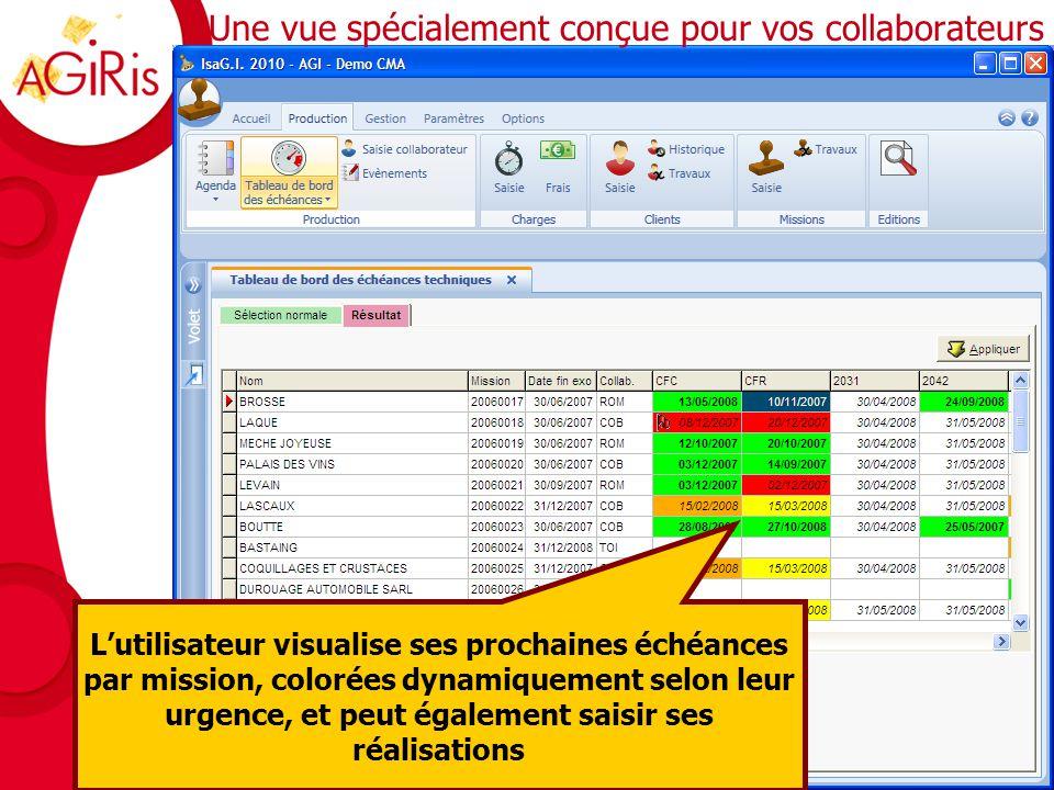 Organisation des échéances techniques La vue du manager Cet écran permet de filtrer les échéances techniques sur différents critères et les visualiser (à droite) en naviguant dans un calendrier (à gauche) qui offre des comptages correspondant à la sélection