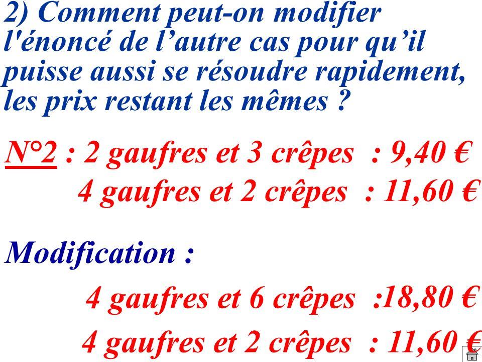 g : prix dune glace (en ) Choix des inconnues du problème c : prix dun coca (en ) 3 coca et 2 glaces : 8,50.