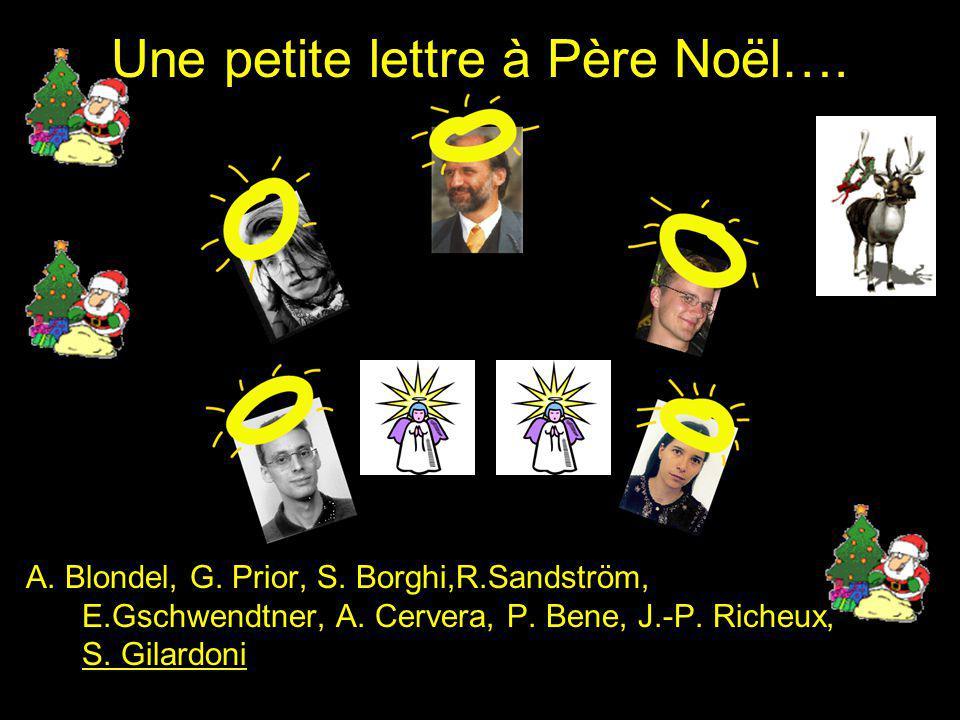 Une petite lettre à Père Noël…. A. Blondel, G. Prior, S.