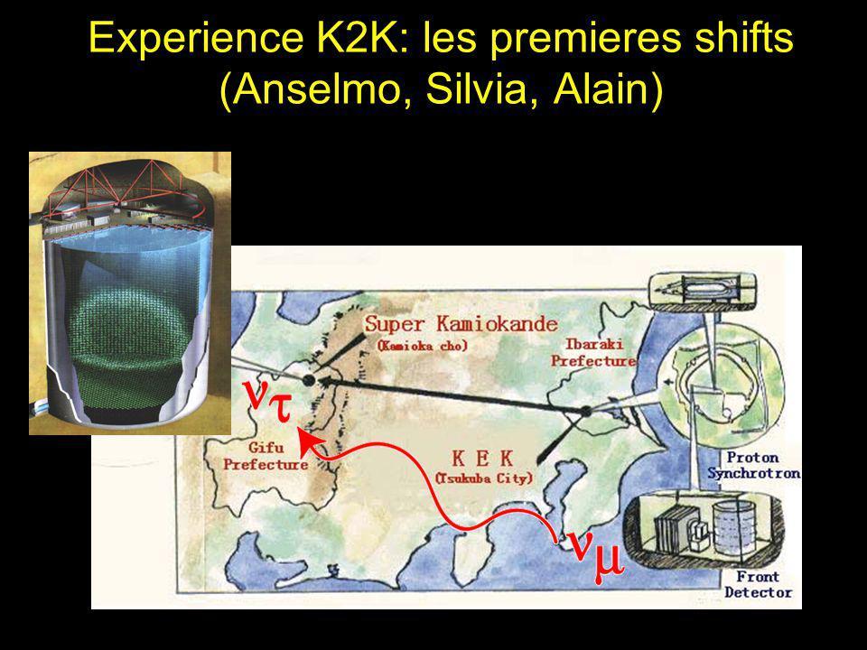 Experience K2K: les premieres shifts (Anselmo, Silvia, Alain)