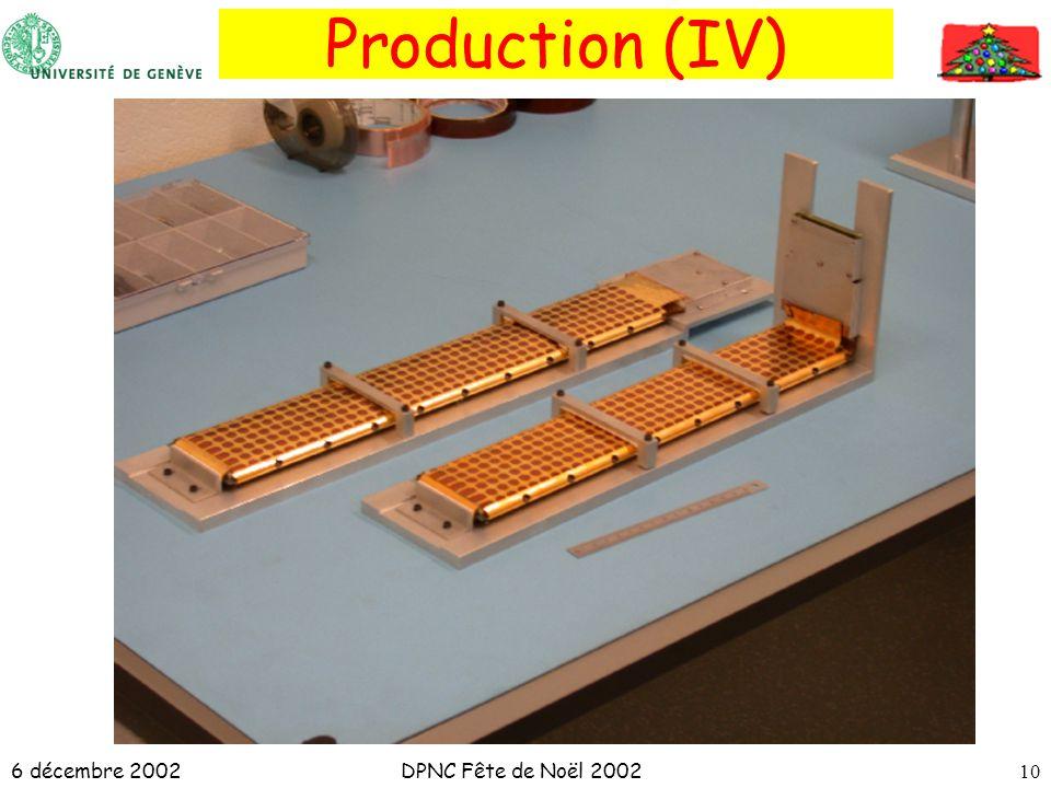 6 décembre 2002DPNC Fête de Noël 200210 Production (IV)
