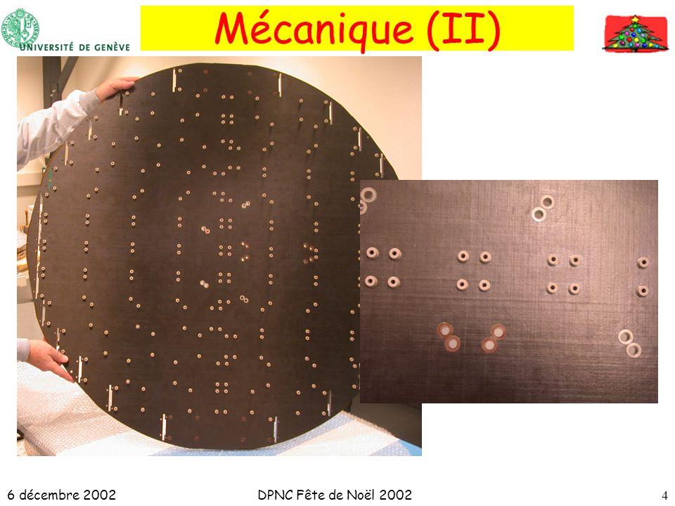 6 décembre 2002DPNC Fête de Noël 20024 Mécanique (II)