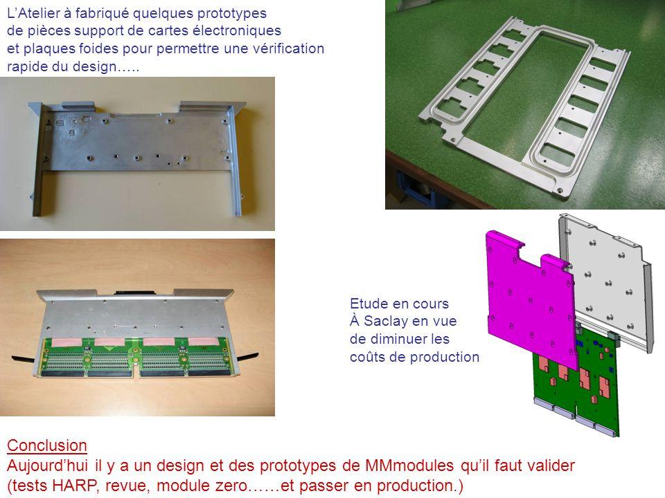 LAtelier à fabriqué quelques prototypes de pièces support de cartes électroniques et plaques foides pour permettre une vérification rapide du design….