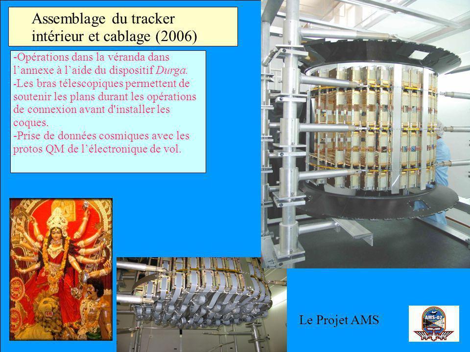 Assemblage du tracker intérieur et cablage (2006) -Opérations dans la véranda dans lannexe à laide du dispositif Durga. - Les bras télescopiques perme