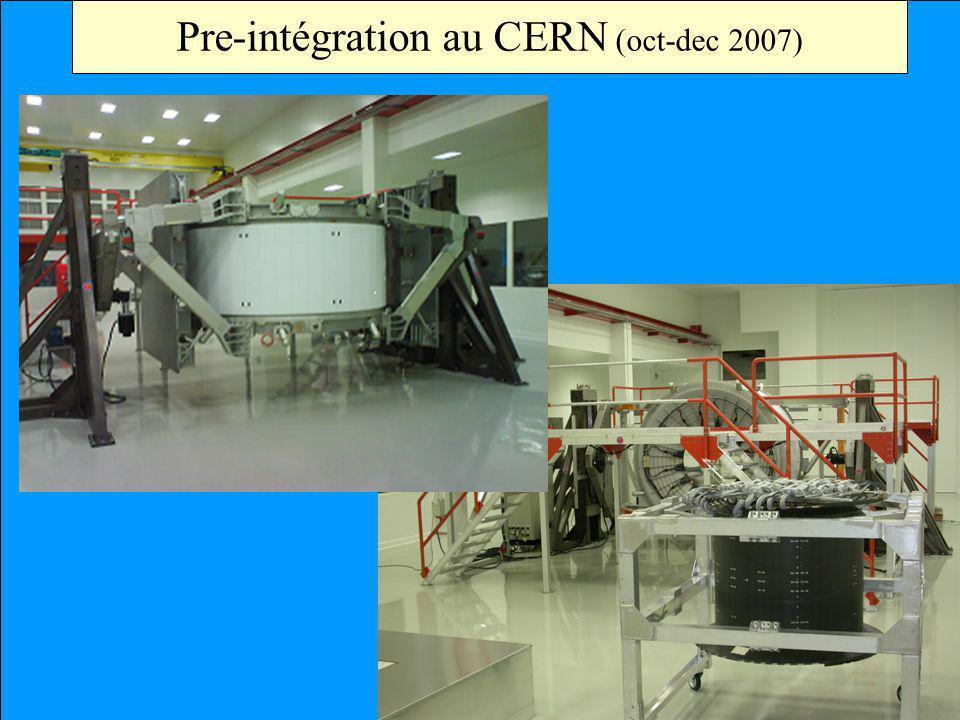 Le Projet AMS Pre-intégration au CERN (oct-dec 2007)