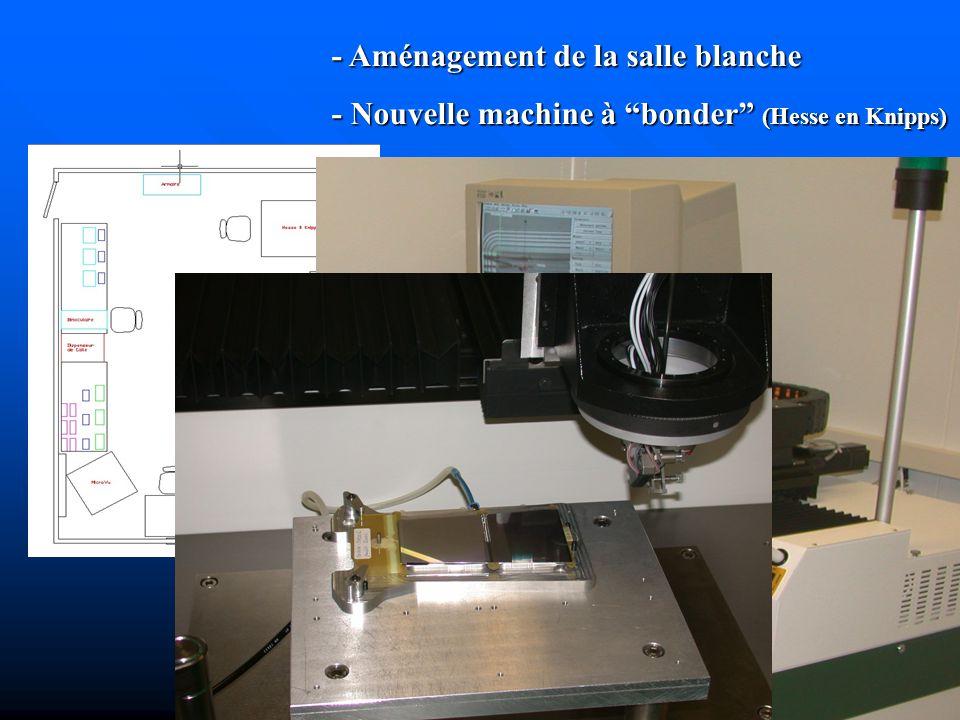- Aménagement de la salle blanche - Nouvelle machine à bonder (Hesse en Knipps)