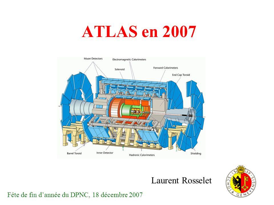 Le détecteur ATLAS Calorimètre hadronique Calorimètre électromagnétique Détecteurs internes Silicon Pixels Silicon Strips Transition Radiation Tracker Solénoïde supraconducteur Spectromètre à muons Bobines supraconductrices pour le champ torique du spectromètre à Longueur 44m Hauteur 22m