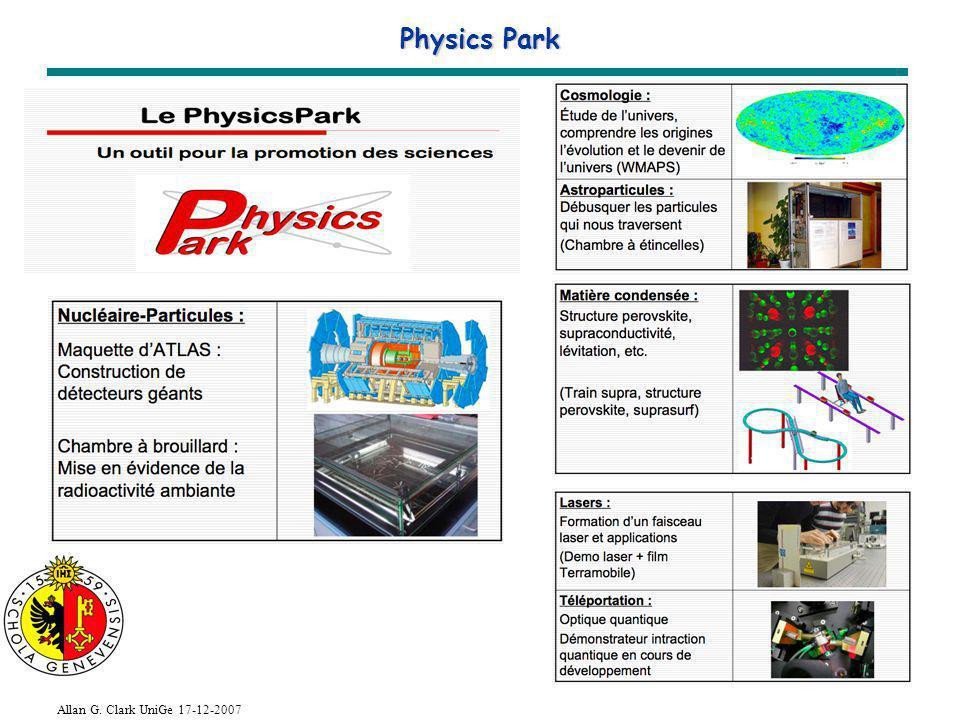 Allan G. Clark UniGe 17-12-2007 Physics Park