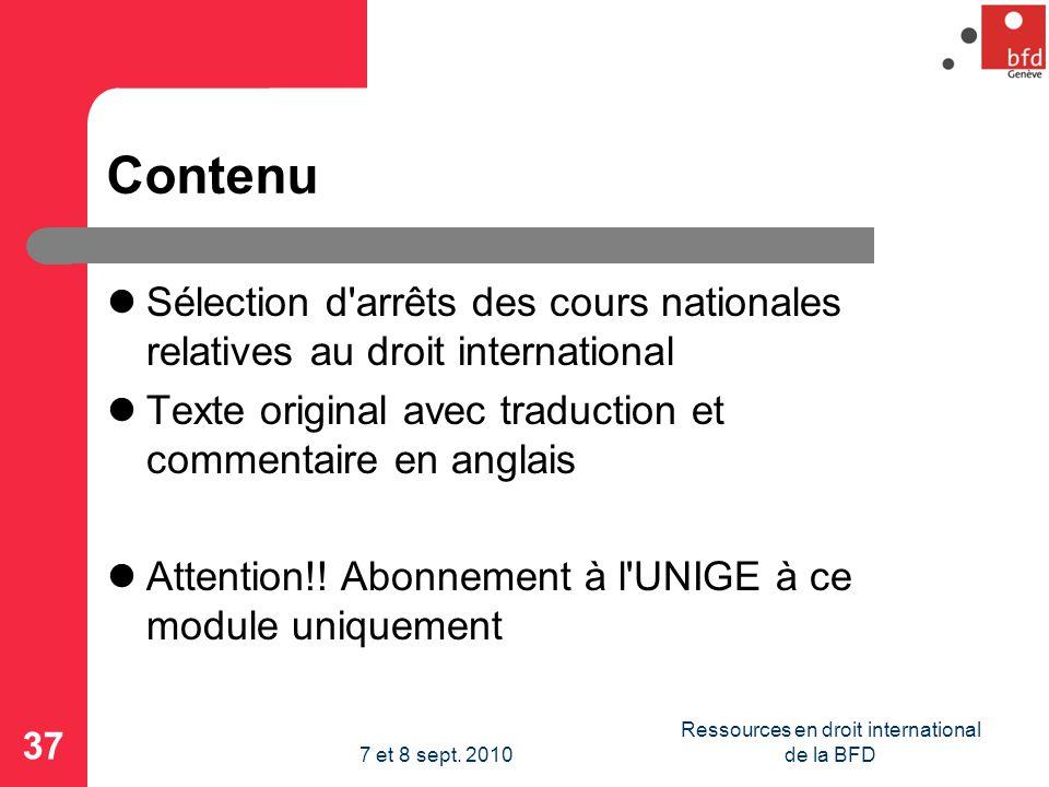 Contenu Sélection d arrêts des cours nationales relatives au droit international Texte original avec traduction et commentaire en anglais Attention!.