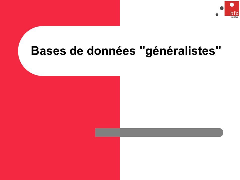 Bases de données généralistes