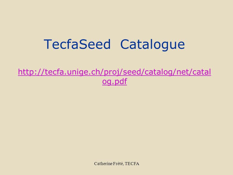 Catherine Frété, TECFA TecfaSeed Catalogue http://tecfa.unige.ch/proj/seed/catalog/net/catal og.pdf http://tecfa.unige.ch/proj/seed/catalog/net/catal