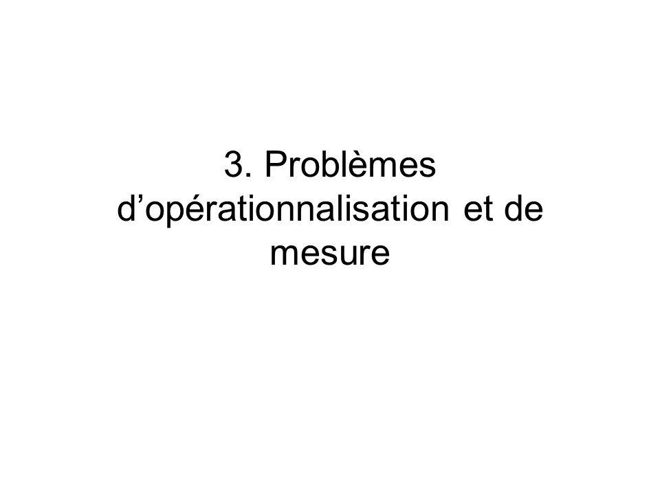 3. Problèmes dopérationnalisation et de mesure