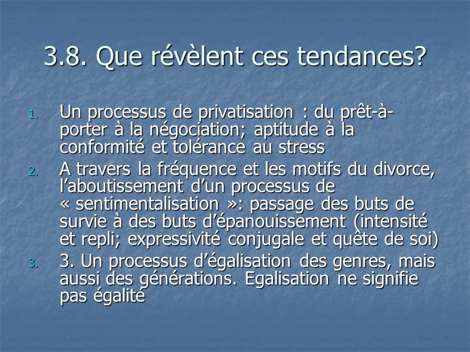 3.8. Que révèlent ces tendances? 1. Un processus de privatisation : du prêt-à- porter à la négociation; aptitude à la conformité et tolérance au stres