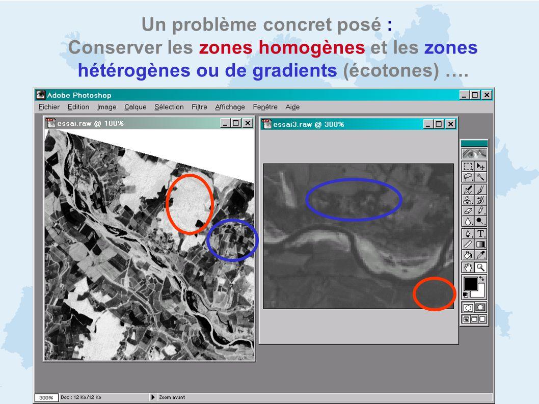 Un problème concret posé : Conserver les zones homogènes et les zones hétérogènes ou de gradients (écotones) ….
