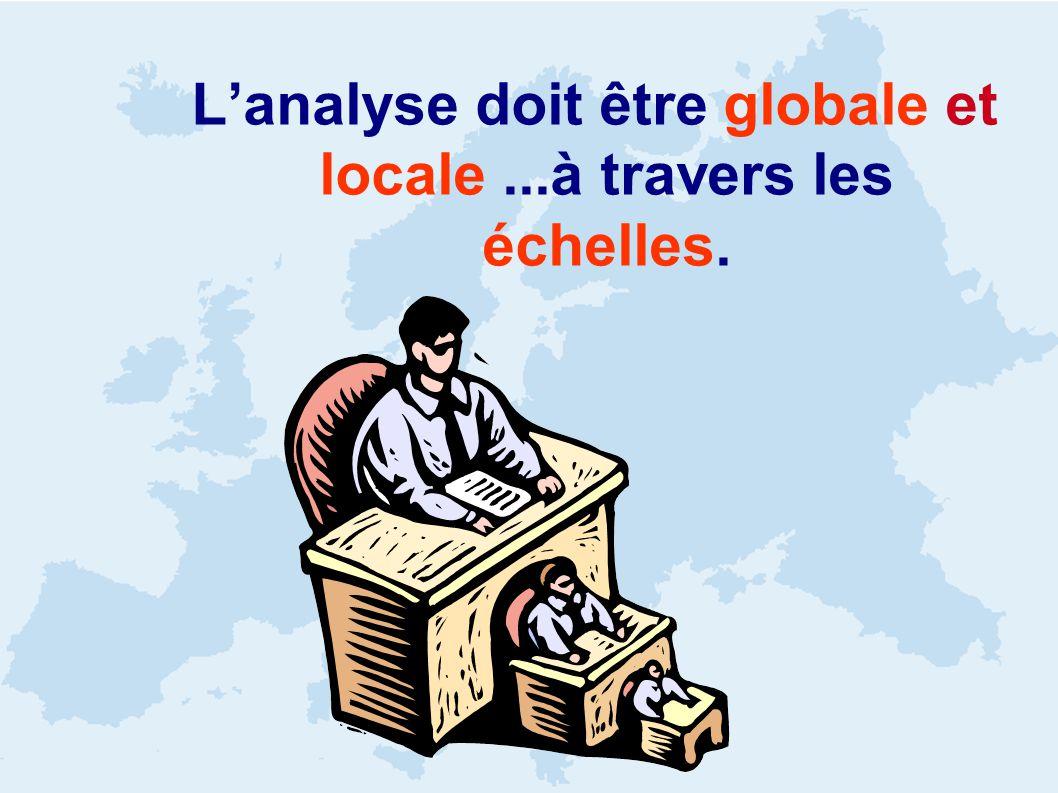 Lanalyse doit être globale et locale...à travers les échelles.