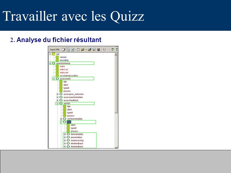 Travailler avec les Quizz 2. Analyse du fichier résultant