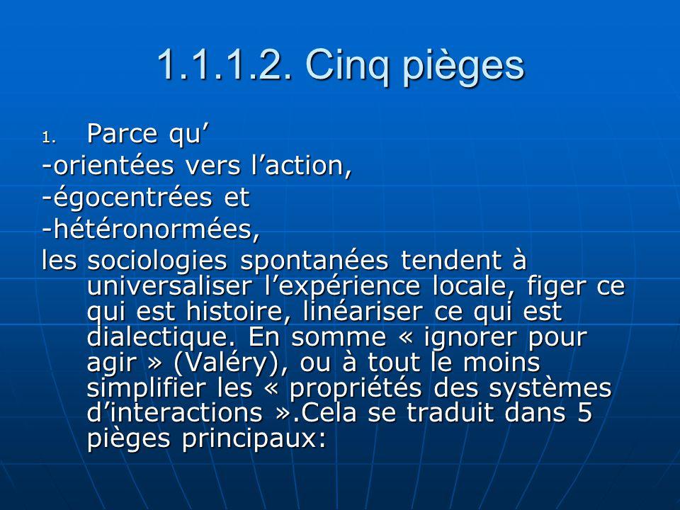 2.Le piège de l Universalisation: « Echapper au social par la psychologisation » 2.