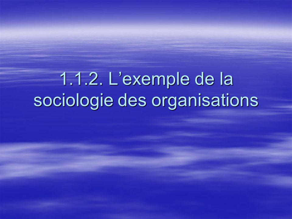 1.1.2. Lexemple de la sociologie des organisations