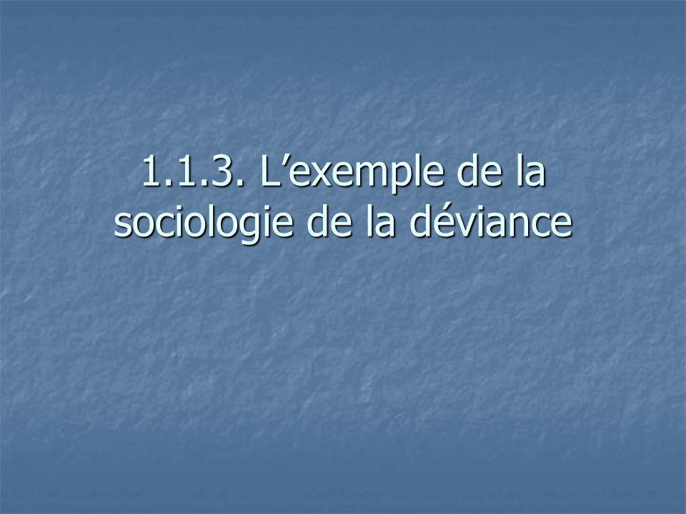 1.1.3. Lexemple de la sociologie de la déviance