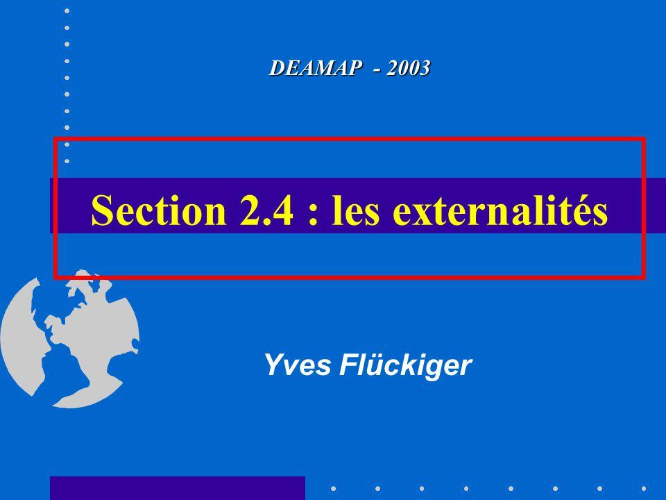 Section 2.4 : les externalités DEAMAP - 2003 Yves Flückiger