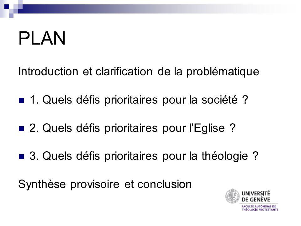 « Comment éviter que les Facultés de théologie répondent brillamment à des questions que personne ne se pose .