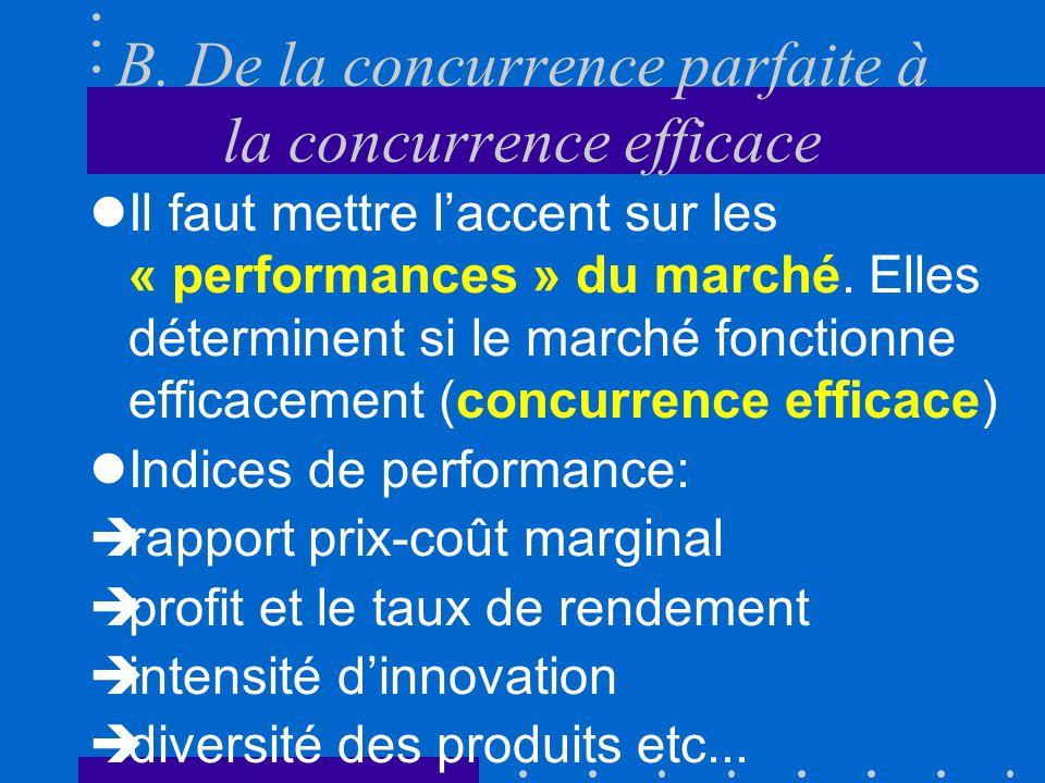B.De la concurrence parfaite à la concurrence efficace ….
