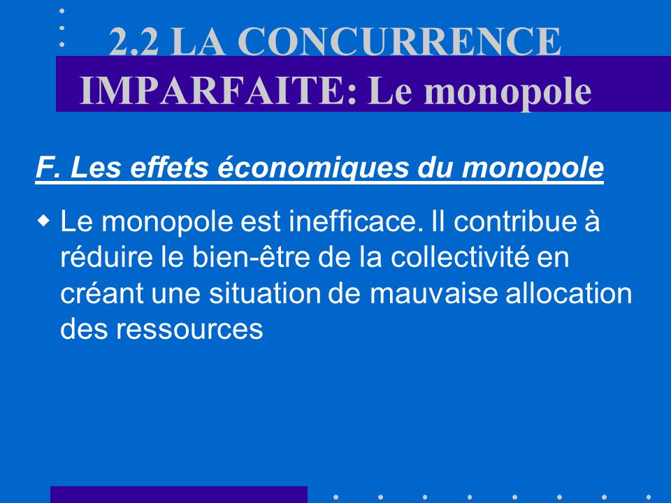 E. Calcul du monopole Le taux de majoration du prix par rapport au coût marginal de production (« Price mark-up ») est un indicateur du pouvoir de mar