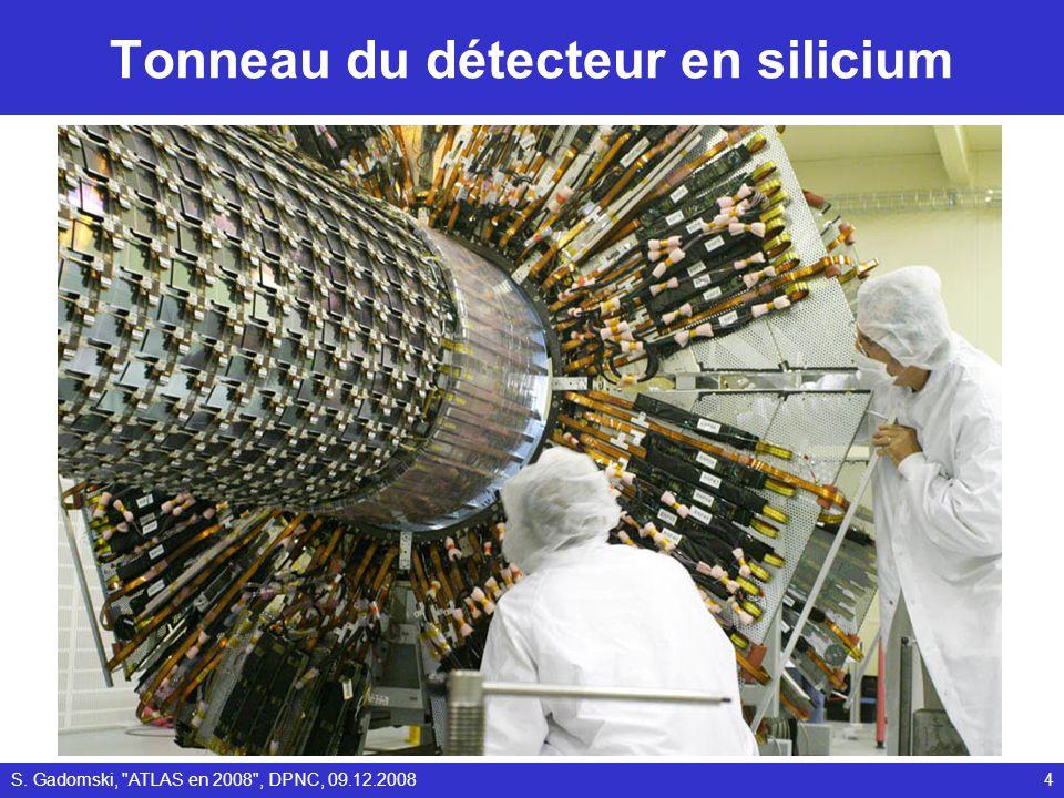 Tonneau du détecteur en silicium S. Gadomski, ATLAS en 2008 , DPNC, 09.12.20084