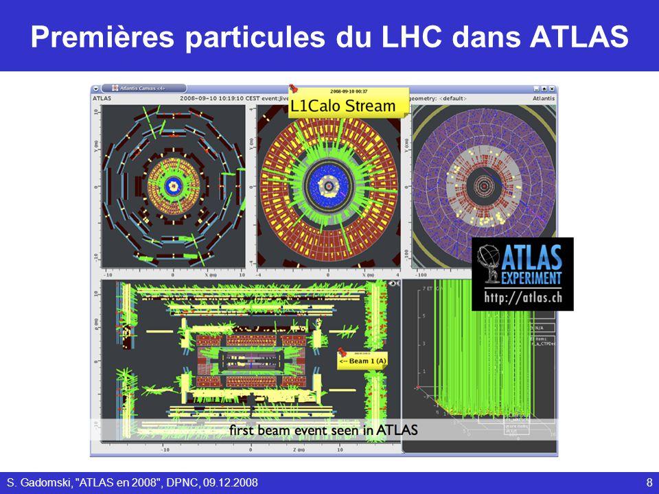 Premières particules du LHC dans ATLAS 8S. Gadomski,