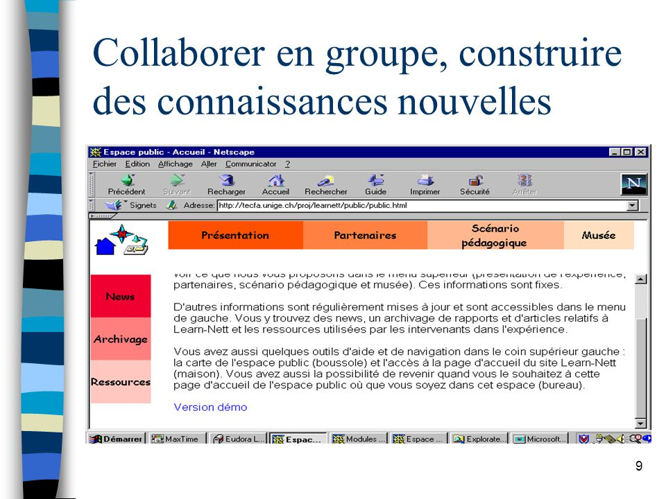 9 Collaborer en groupe, construire des connaissances nouvelles