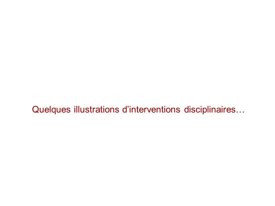 Quelques illustrations dinterventions disciplinaires…