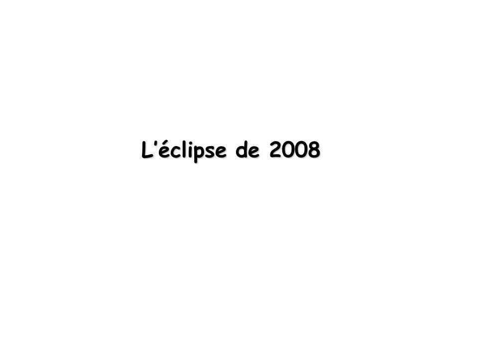 Léclipse de 2008