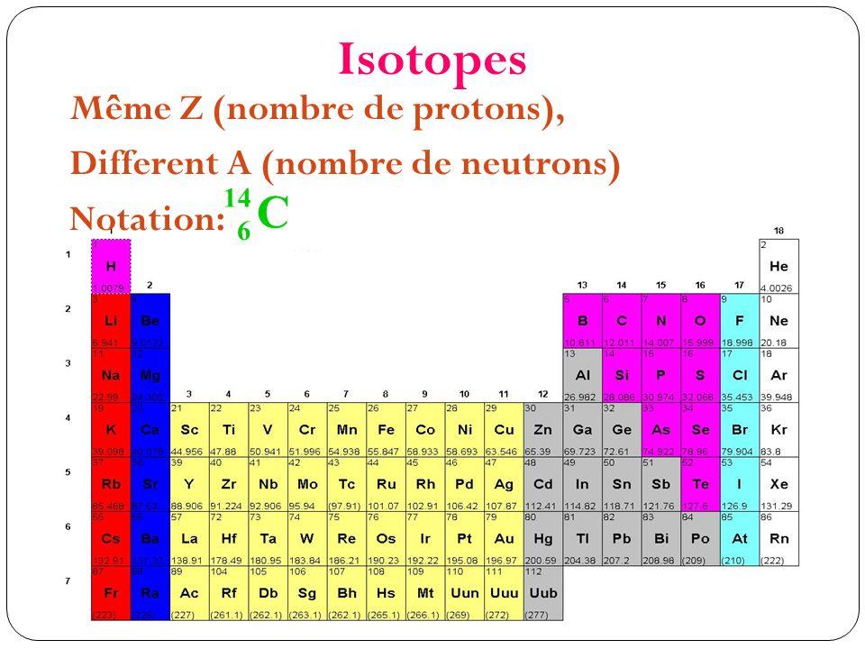 Isotopes les plus utilisés en pétrologie H, C, O, S, K, Ar, Rb, Sr, U, Pb, Th, Sm, Nd Utilisations: Datations Traceurs pétrogénétiques
