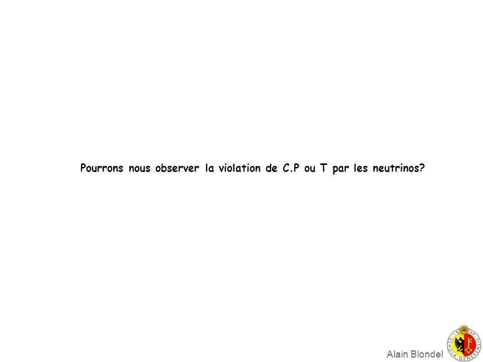 Alain Blondel Pourrons nous observer la violation de C.P ou T par les neutrinos?
