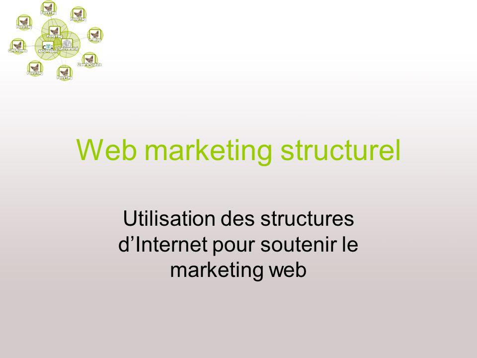 Web marketing structurel Utilisation des structures dInternet pour soutenir le marketing web