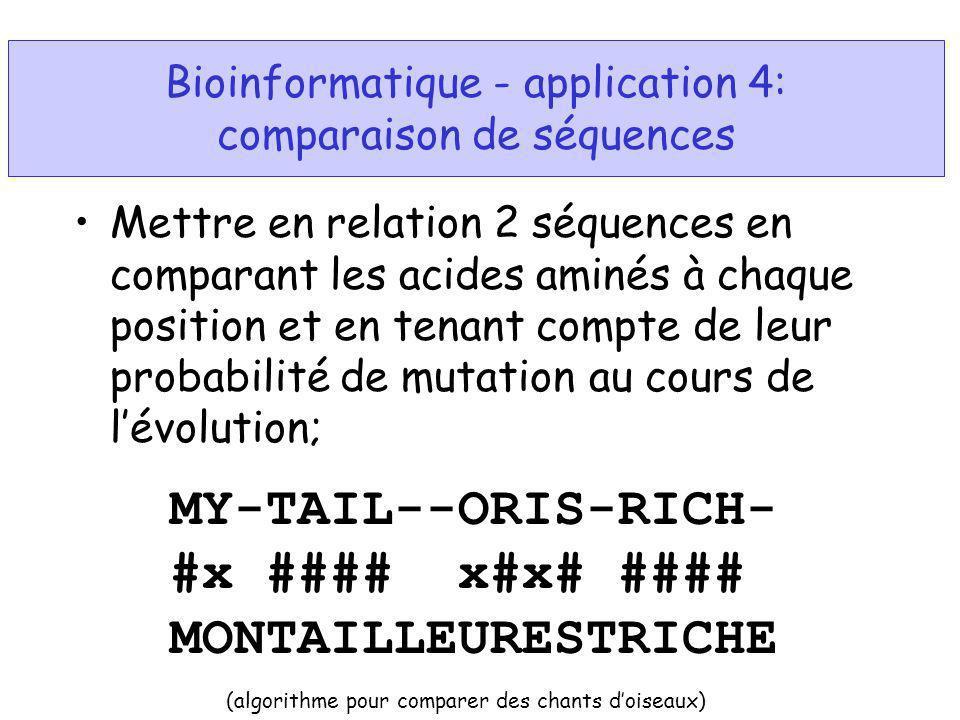 Mettre en relation 2 séquences en comparant les acides aminés à chaque position et en tenant compte de leur probabilité de mutation au cours de lévolu