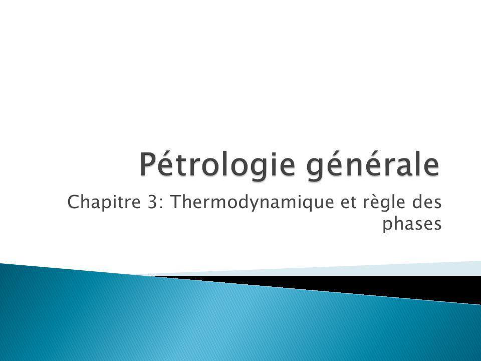 Thermodynamique Résumé u G est une mesure de la stabilité chimique relative pour une phase u G peut être déterminé pour chaque phase en mesurant H et S pour la reaction de cette phase à partir des éléments u G peut être déterminé pour chaque T et P mathématiquement A quoi ça sert .