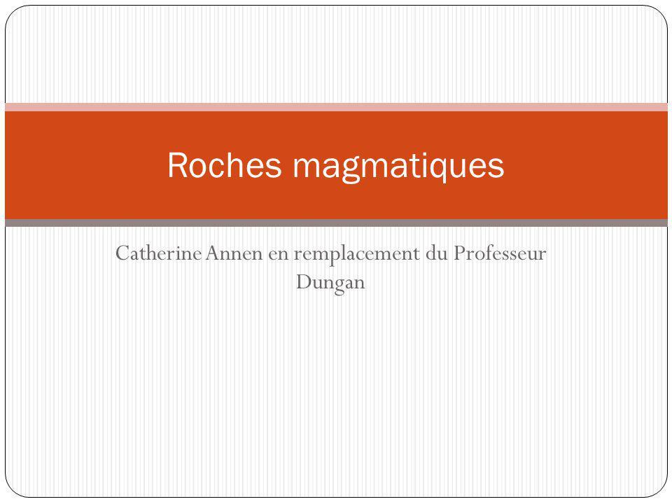 Catherine Annen en remplacement du Professeur Dungan Roches magmatiques
