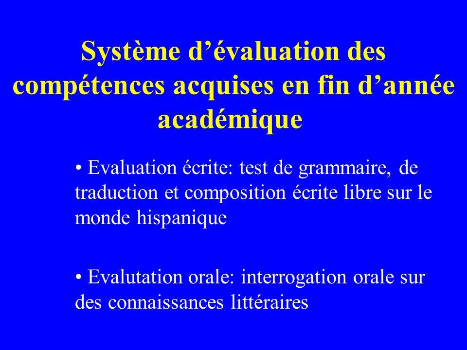 Public cible Etudiants ne possédant pas un certificat de maturité suisse comprenant l espagnol (type D).