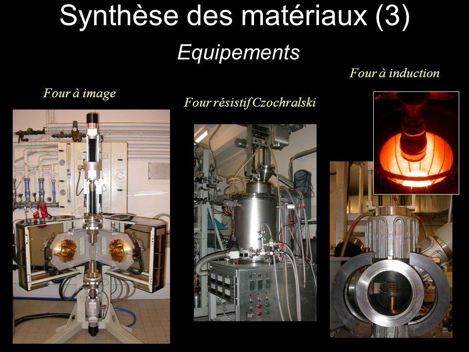 Synthèse des matériaux (3) Equipements Four à image Four à induction Four résistif Czochralski
