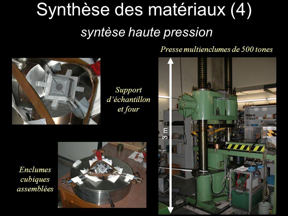Synthèse des matériaux (4) syntèse haute pression Presse multienclumes de 500 tones 3 m Support déchantillon et four Enclumes cubiques assemblées