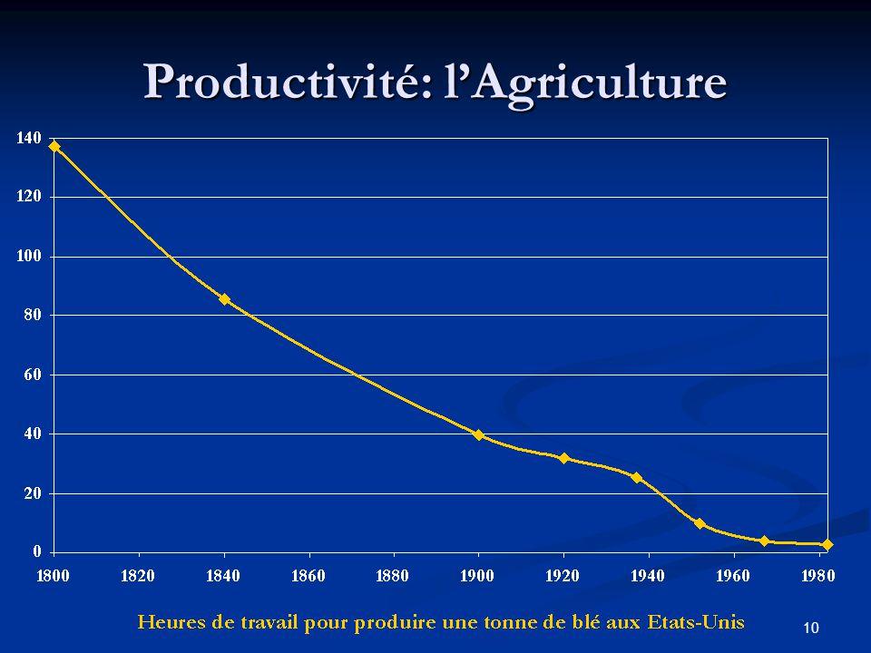 10 Productivité: lAgriculture