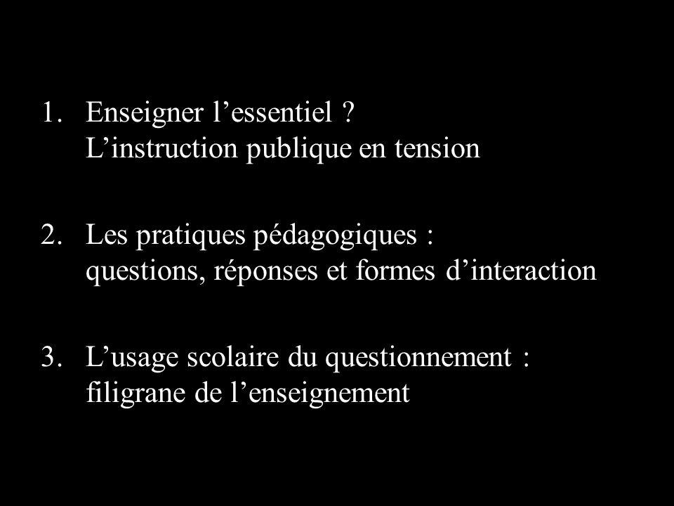 1.Enseigner lessentiel .