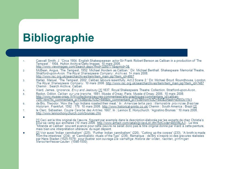 Bibliographie 1. Caswall Smith, J.